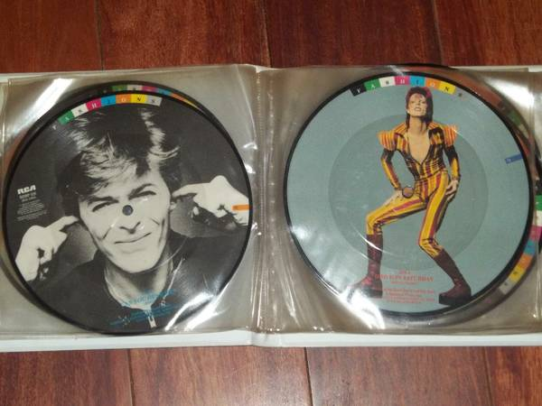 "David Bowie FASHIONS - RARE 10 45 7"" Vinyl Picture Disc Set - Click Image to Close"